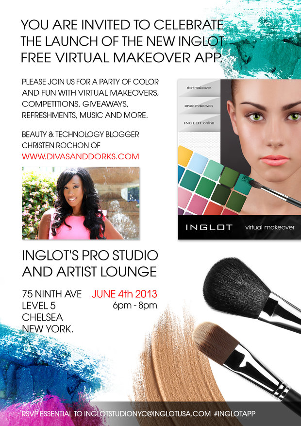 Nyc Inglot Virtual Makeover App Launch Hosted By Christen Rochon Of