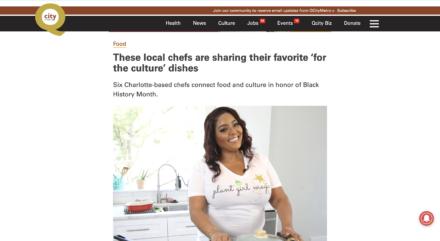 Chef Joya Black History Month