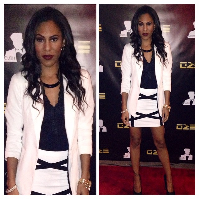 @brittneyqhill made an appearance last night at the premiere of