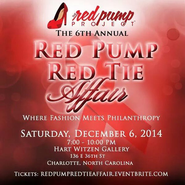 Special thanks to @accessorygardin and @tshanelldesigns for #RockingTheRedPump as silent auction sponsors for the 6th Annual Red Pump Red Tie Affair. Get your tickets now at http://bit.ly/1tZ6Jtj #RockTheRedPump #RedPumpRedTie #RedPumpProject @redpump