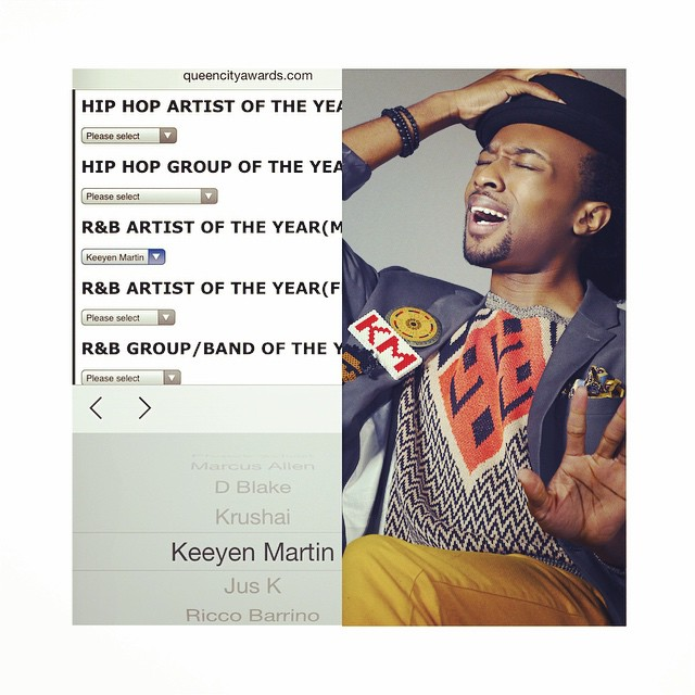 2014 Queen City Music Awards  Best Male R&B Artist Nominee  Keeyen Martin http://queencityawards.com/voting/ @keeyenmartin #CLT #CLTArts #Music #Singer #Songwriter #Performer